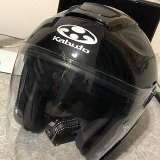 オージーケー(OGK)のヘルメット ASAGI オープンフェイス ブラックメタリック(ヘルメット/シールド)