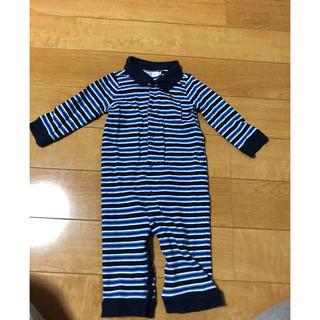 ラルフローレン(Ralph Lauren)のラルフローレン ボーダー カバーオール ポロシャツ 70サイズ(カバーオール)