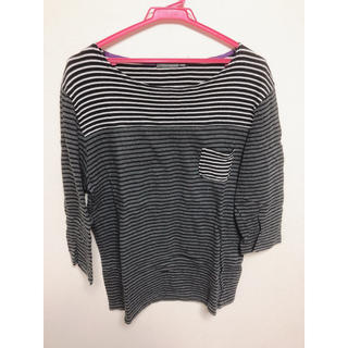 ブラウニー(BROWNY)のボーダーカットソー Tシャツ Lサイズ(Tシャツ/カットソー(七分/長袖))
