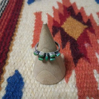 インディアン(Indian)のインディアンジュエリー ナバホ族 ターコイズ シルバーリング 指輪 ヴィンテージ(リング(指輪))