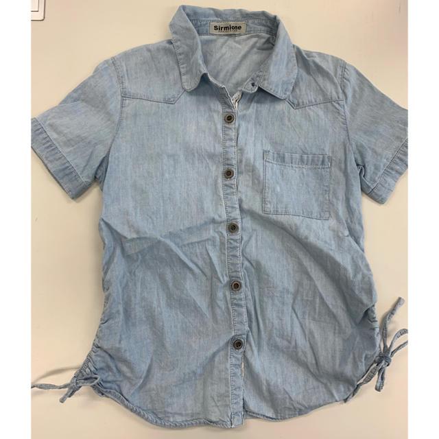 しまむら(シマムラ)のシャツ 半袖 140 しまむら 女の子 キッズ/ベビー/マタニティのキッズ服 女の子用(90cm~)(Tシャツ/カットソー)の商品写真