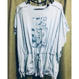 マリリンムーン(MARILYN MOON)のマリリンムーン 刺繍ブラウス(シャツ/ブラウス(半袖/袖なし))
