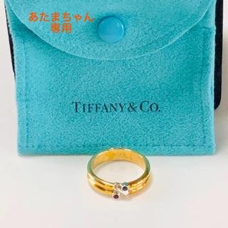 ティファニー(Tiffany & Co.)のティファニー ルビー&ブルーサファイア k18 YG リング(リング(指輪))