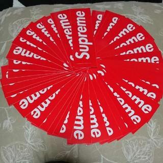 シュプリーム(Supreme)のSupreme box logo Sticker 赤 定番(ステッカー)