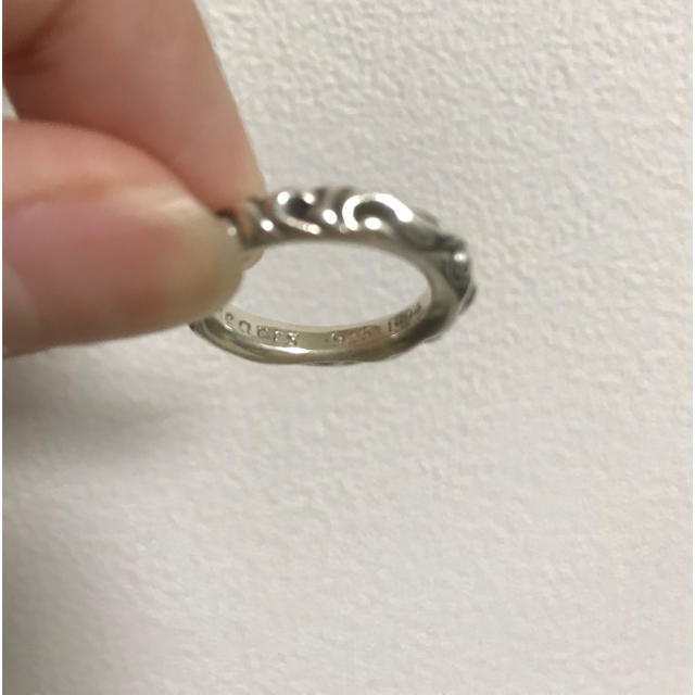 Chrome Hearts(クロムハーツ)のクロムハーツ スクロールバンドリング 16号 メンズのアクセサリー(リング(指輪))の商品写真