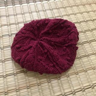 アングリッド(Ungrid)のungrid ベレー帽 ニットベレー帽 赤(ハンチング/ベレー帽)