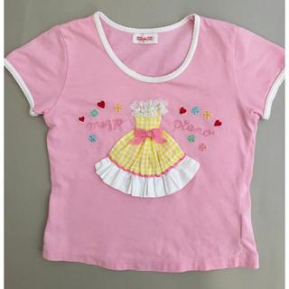 メゾピアノ(mezzo piano)のメゾピアノ 110 半袖 Tシャツ お姫様好きのお子さんも(Tシャツ/カットソー)