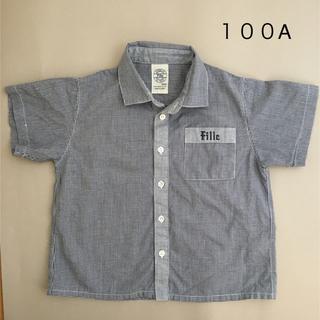 コムサデモード(COMME CA DU MODE)のコムサデモード 100  半袖シャツ ギンガムチェック お出かけ、習い事に(ブラウス)