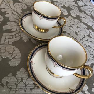 ホワイトハウス御用達食器LENOX BUCHANANのコーヒーカップ2客(食器)