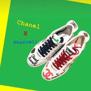 シャネル(CHANEL)のCHANEL Pharrell スニーカー 44 新品未使用 シャネルファレル(スニーカー)