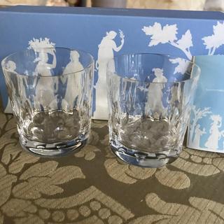ウェッジウッド(WEDGWOOD)のウエッジウッドグラス2客新品未使用(グラス/カップ)