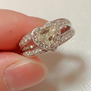 値下げプラチナ1カラット天然ダイヤリング ハイグレード(リング(指輪))
