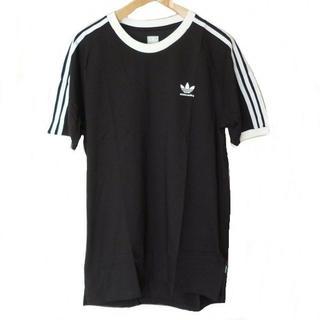 アディダス(adidas)の新品◆(XO)AdidasOriginals黒3stライン胸ロゴTシャツ(Tシャツ/カットソー(半袖/袖なし))