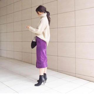 22d2522b3fc4 エストネーション(ESTNATION)のVERY 滝沢眞規子着用 エストネーション コーデュロイスカート(ひざ丈スカート