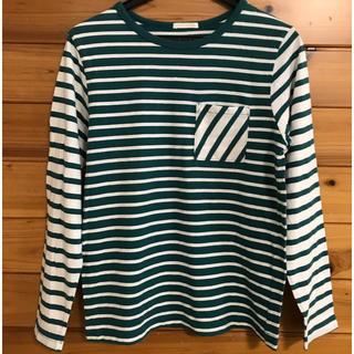ジーユー(GU)のGU 150㎝ 長袖ボーダーTシャツ(Tシャツ/カットソー)