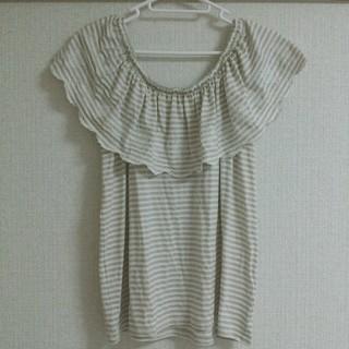 ミスティウーマン(mysty woman)のmistywoman 刺繍カットソー(Tシャツ(半袖/袖なし))