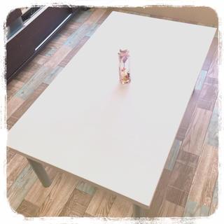 美品❗️☆ホワイト 木目 テーブル☆西海岸インテリア(ローテーブル)
