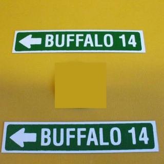 標識「ブリキ製「BUFFALO14」(2枚セット)」屋外可(その他)