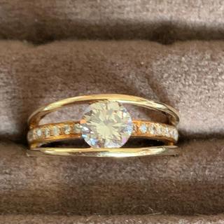 1カラット天然ダイヤモンドリング(リング(指輪))