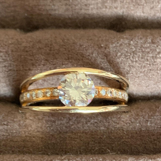 高級品質1カラット天然ダイヤモンドリング(リング(指輪))