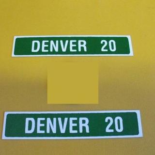 標識「ブリキ製「DENVER20」(2枚セット)」屋外可(その他)