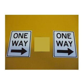 標識「ブリキ製「ONE WAY」(2枚セット)」屋外可(その他)