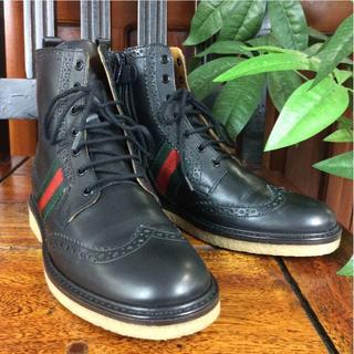 グッチ(Gucci)の【正規品】グッチ ジュニア キッズ ブーツ ブラック 21.5cm A85384(ブーツ)