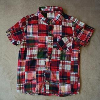 ニシマツヤ(西松屋)のチェックシャツ 140cm ユニセックス 男女兼用 半袖シャツ シャツ(ブラウス)