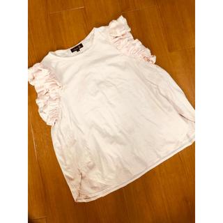 ドゥロワー(Drawer)の滝沢さん愛用 ドゥロワー drawer 袖フリル ピンクTシャツ(Tシャツ(半袖/袖なし))
