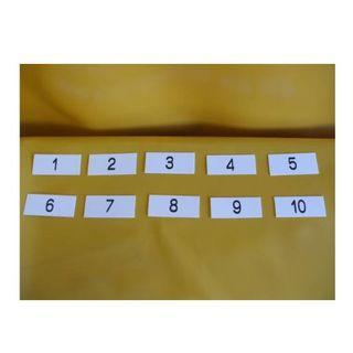 表示板「番号札1~10」(10個セット)屋外可(オフィス用品一般)