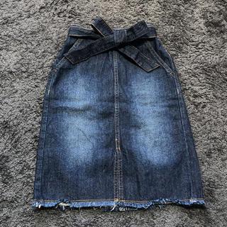 ジーユー(GU)のGU キッズ デニムタイトスカート  130 (スカート)