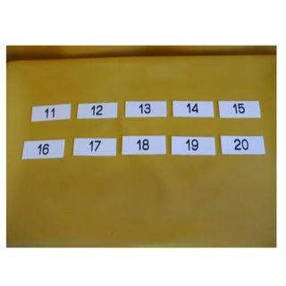 表示板「番号札11~20」(10個セット)屋外可(オフィス用品一般)