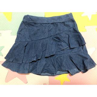 プティマイン(petit main)のプティマイン デニム風スカート 100(スカート)