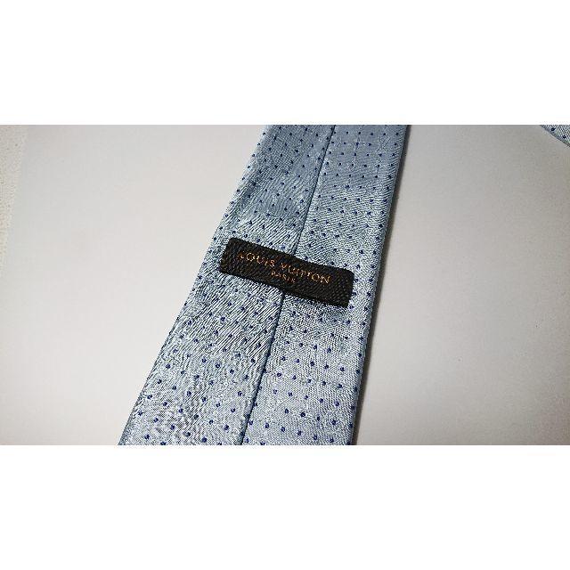LOUIS VUITTON(ルイヴィトン)の《美品》 ルイ・ヴィトン LOUIS VUITTON ネクタイ ドット ブルー メンズのファッション小物(ネクタイ)の商品写真