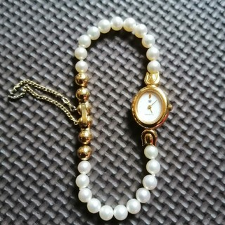 ミキモト(MIKIMOTO)のMIKIMOTO international 本真珠ブレスレット腕時計(腕時計)