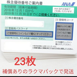 ANA 株主優待 23枚 即購入可! ★補償ありのラクマパックで発送★(航空券)