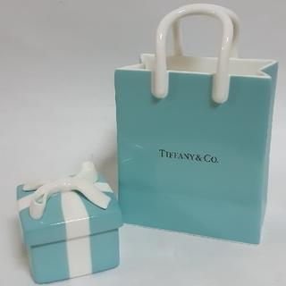 ティファニー(Tiffany & Co.)のティファニー ショッピングバッグ ブルーボウボックス(小物入れ)