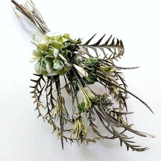 ネイティブフラワーと紫陽花のアンティークのスワッグ(ドライフラワー)