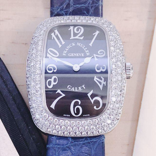 フランクミュラー(FRANCK MULLER)のフランクミュラー ギャレ フルダイヤ ホワイトゴールド 黒文字盤 正規品(腕時計)