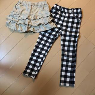 ジーユー(GU)の130cm  スカート  パンツ  セット(スカート)