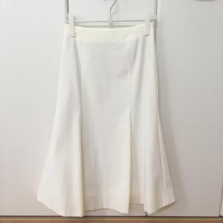 デミルクスビームス(Demi-Luxe BEAMS)の【新品未使用】2017AW THE IRON スカート ホワイト(ひざ丈スカート)