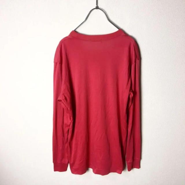 adidas(アディダス)のナイスカラー! 80s adidas トレフォイルロゴ 長袖 Tシャツ 赤 白 メンズのトップス(Tシャツ/カットソー(七分/長袖))の商品写真