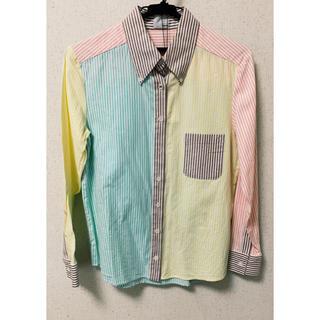 ジーヴィジーヴィ(G.V.G.V.)のk3&co. カラフルマルチストライプシャツ ピンクイエローグリーンペールトーン(シャツ/ブラウス(長袖/七分))
