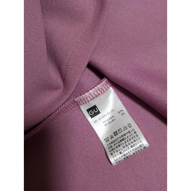 GU(ジーユー)のGU パフスリーブブラウス ピンク M レディースのトップス(シャツ/ブラウス(半袖/袖なし))の商品写真