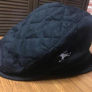 バーバリー(BURBERRY)のバーバリーGOLF57.5ブラック(ハンチング/ベレー帽)