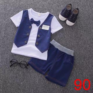 3d6f1ddd18af3 カッコイイ男の子カジュアルフォーマルトップス×半ズボン2点セット子供ファッション(ドレス