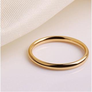 シンプルなファッションリング2mm (ゴールド)(リング(指輪))