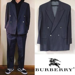 バーバリー(BURBERRY)の Burberry バーバリー セットアップ ダブルジャケット スーツ ワイド(セットアップ)