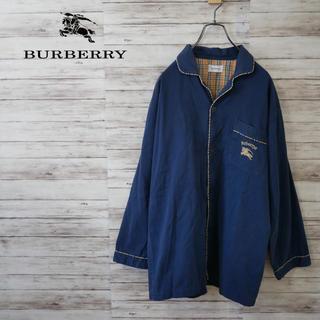 バーバリー(BURBERRY)のBurberry ノバチェックパイピング オープンカラーシャツ パジャマシャツ(シャツ)
