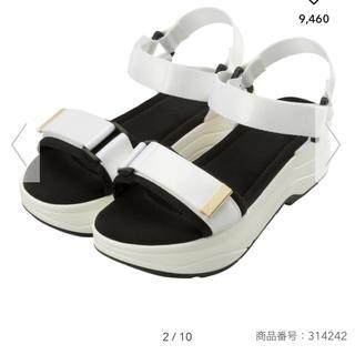ジーユー(GU)のGU スニーカーソールサンダル ジーユー S ホワイト 白(サンダル)